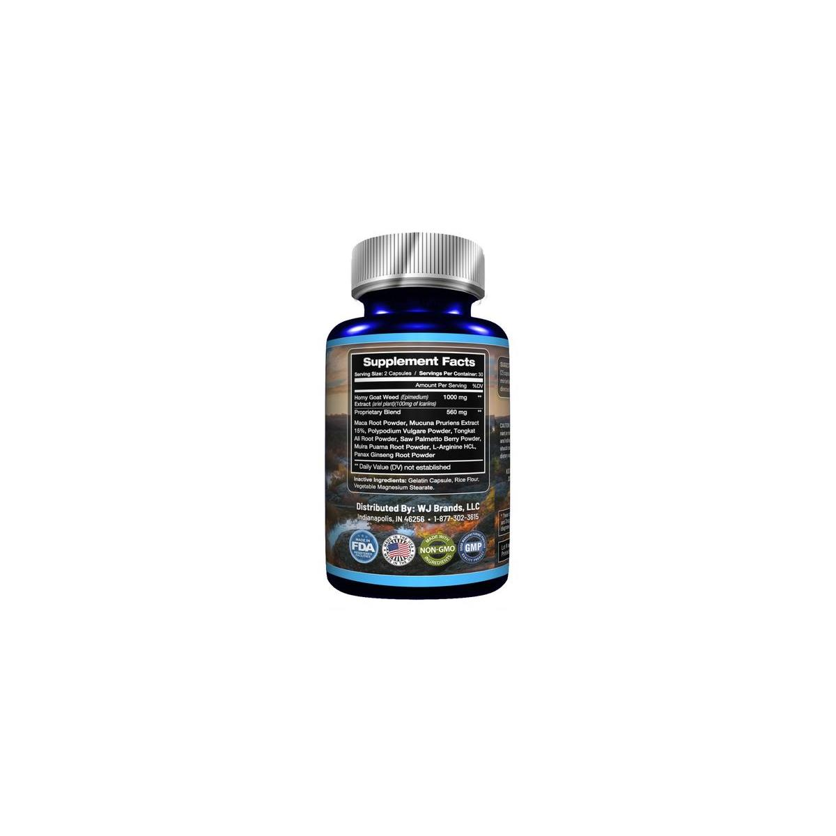 Asclepius Botanicals New Horny Goat Weed with Ginseng & Maca Root
