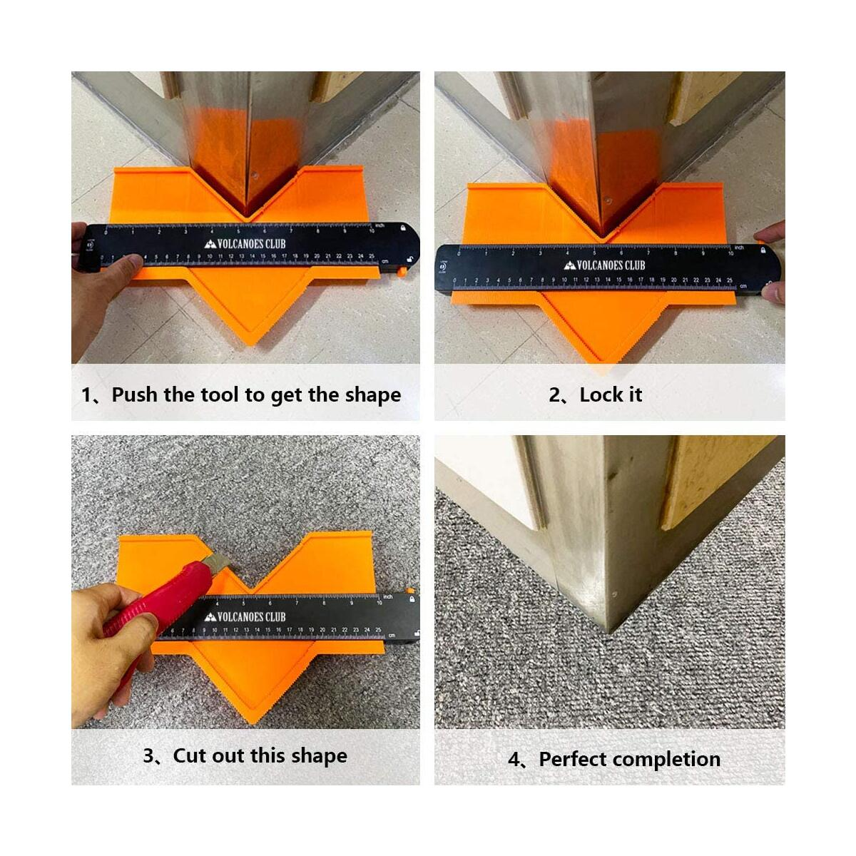 Contour Gauge with Lock 2 Pack (5inch&10inch) - Decoration Tool