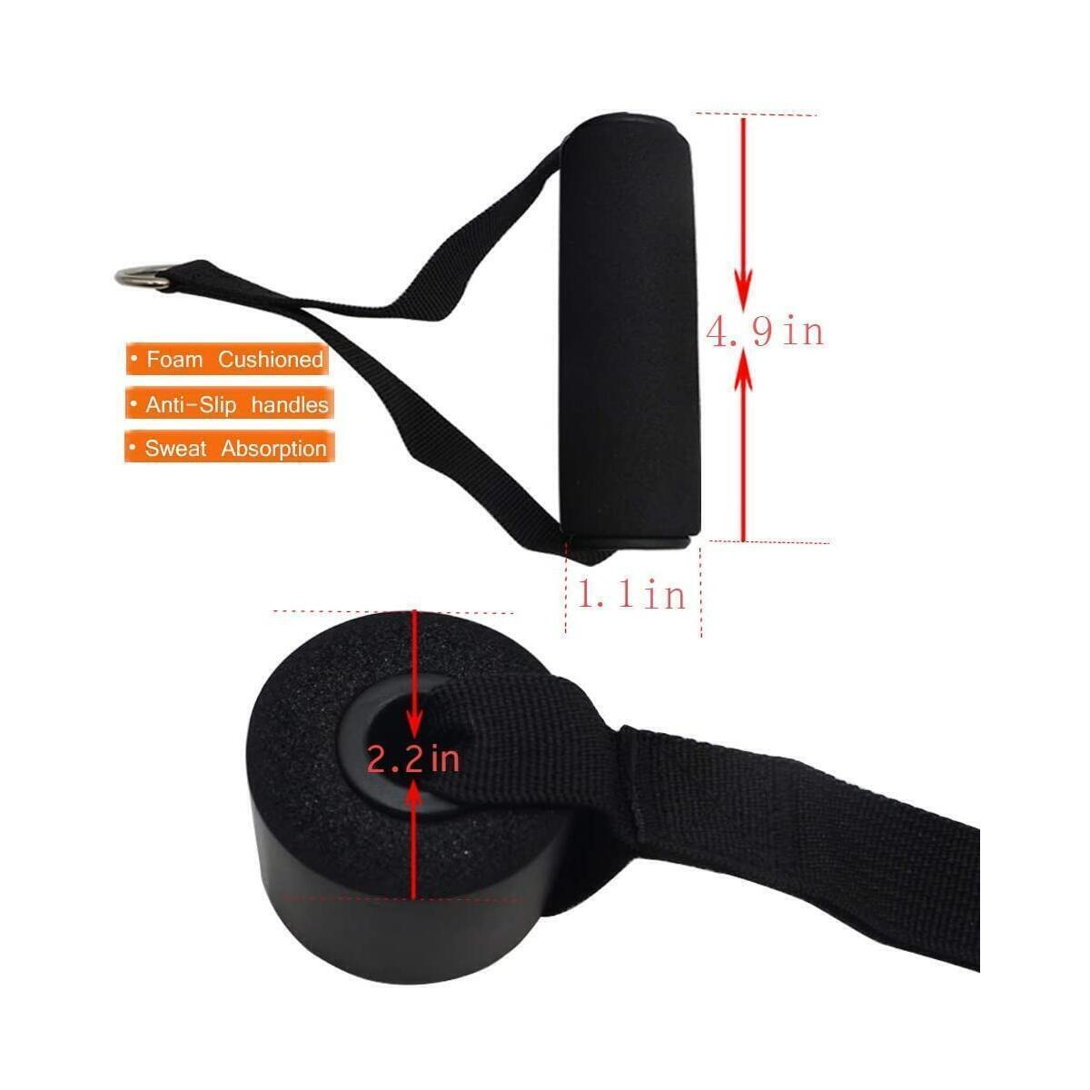 Hzajoy resistance bands with handles set free shipping