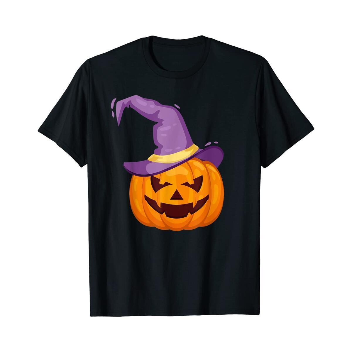 Halloween Funny Jackolantern Pumkin Witchy T-Shirt (Any Size and Color)