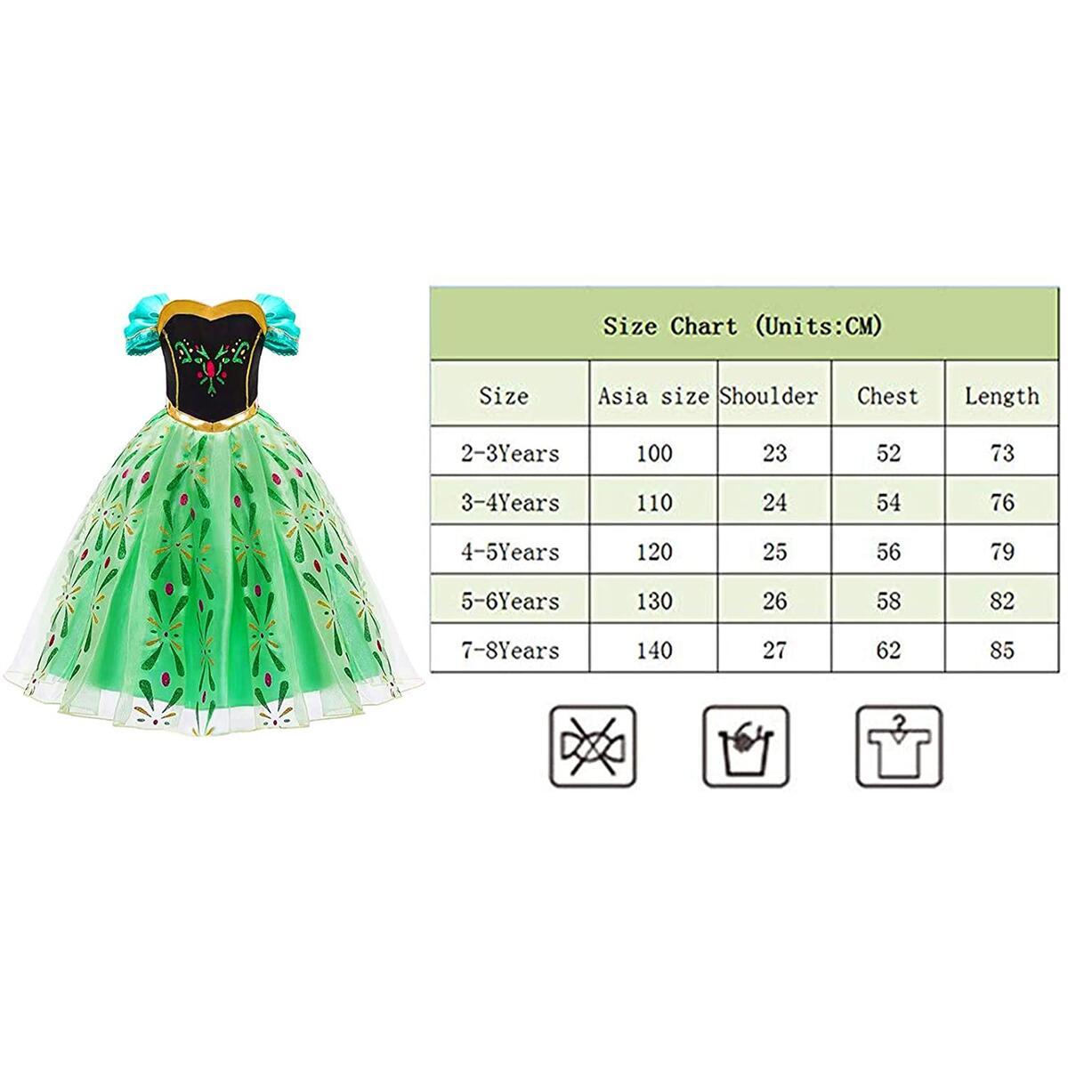 Princess Dress Anna Costume