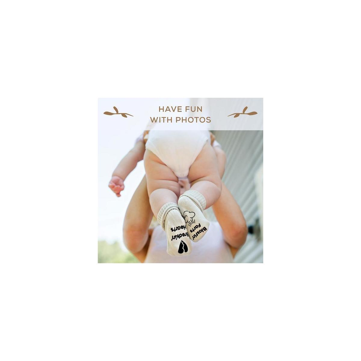 First Landings Baby Socks Gift Set | Adorable Quotes, 6 Pairs and Gift Packaging | Unique Baby Shower Gift