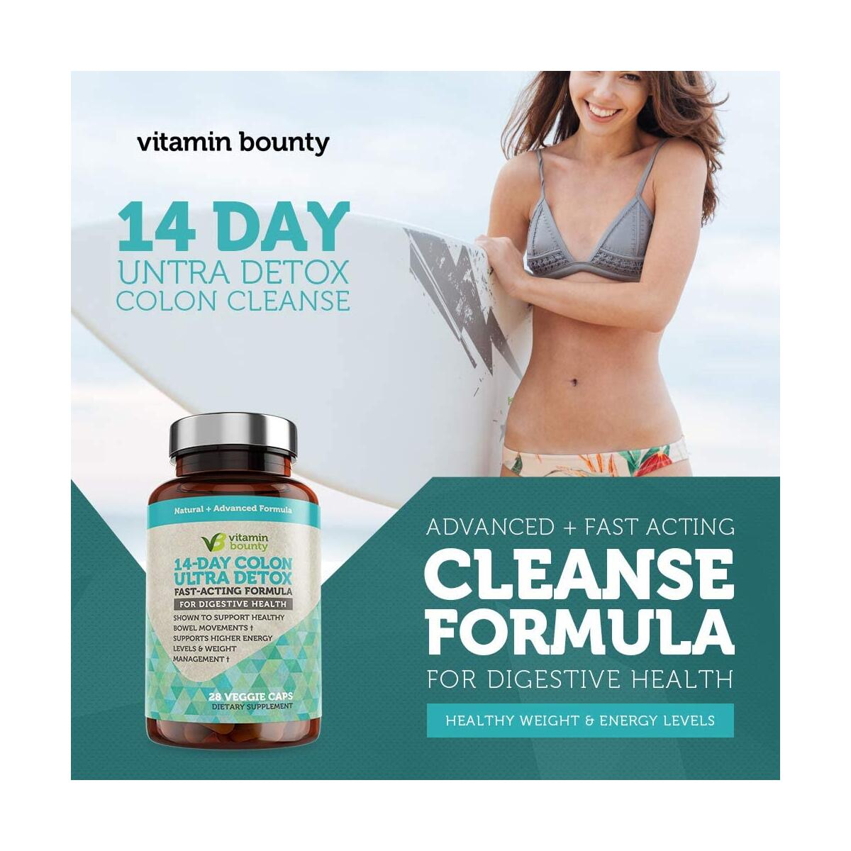 Colon Cleanse Detox (14 Day Cleanse) for Gut Health and Detox - Natural, Gentle & Effective