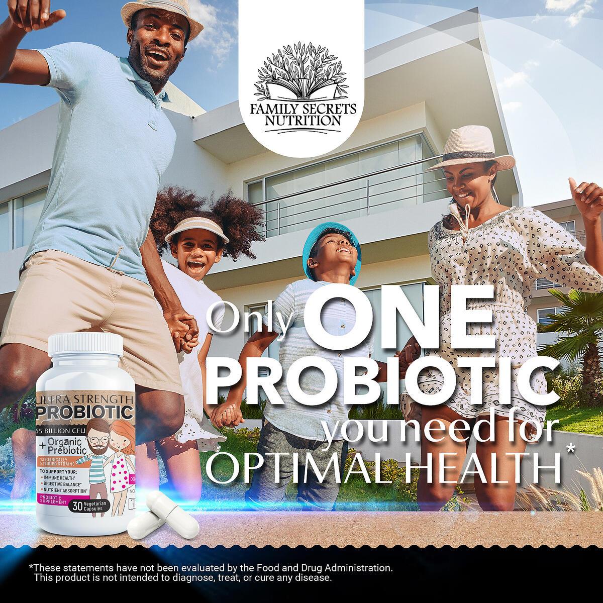 Probiotics 65 Billion CFU Doctor-Approved Probiotics for Women Men Adults Shelf Stable Lactobacillus Acidophilus