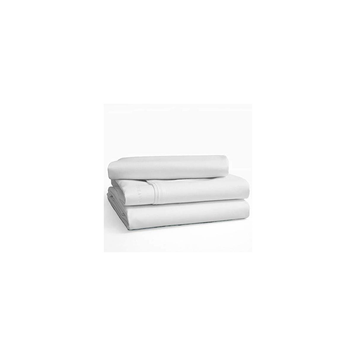 Sweave Eucalyptus Tencel & Egyptian Cotton Queen Size Fitted Sheet Set, Luxury Bedding, Insanely Soft, Comfortably Cool Bed Sheets, Percale, Anti-Wrinkle, Eco-Friendly.
