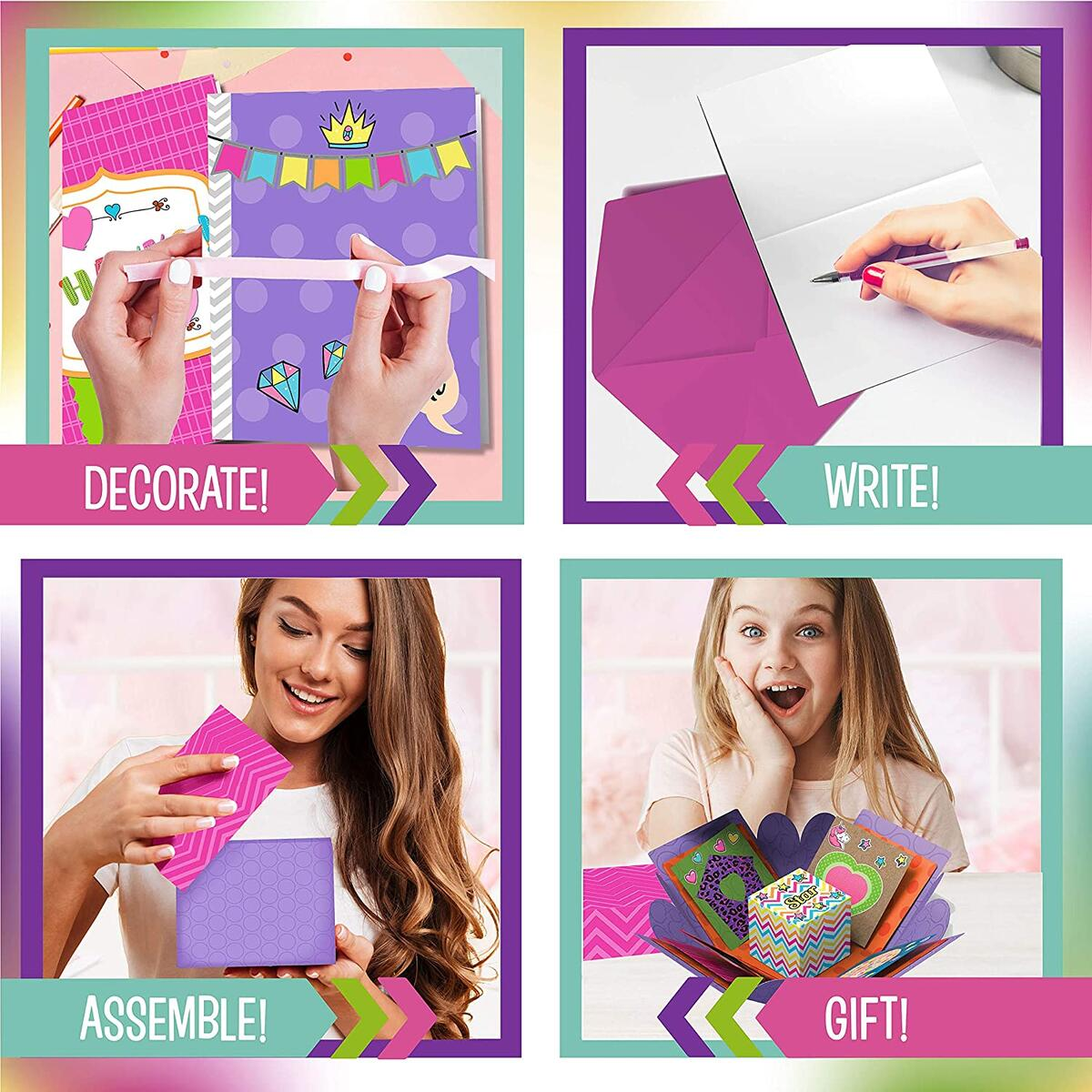 Card Crafting Explosion Arts and Crafts Box - Make Your Own Card Crafts for Boys and Girls Age 6+