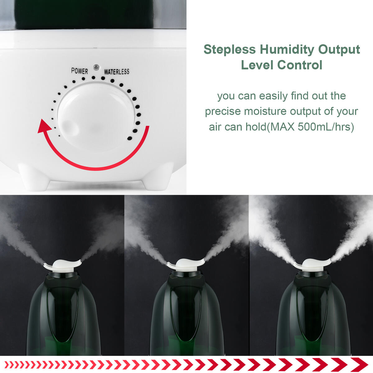 Cool Mist Humidifiers Oil Diffuser,EEssen Ultrasonic Humidifier for Bedroom Large Room 4L Last 30 Hours(96899)