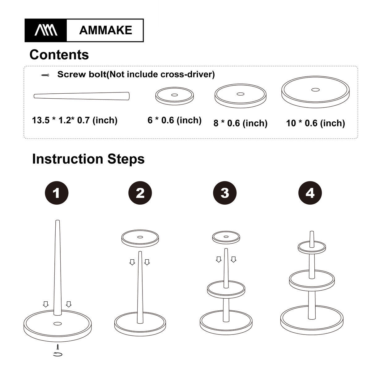 [AMMAKE]Premium Cupcake Stand/ 3 Tier Wooden Cake Holder / Dessert Plates Mini Cakes Fruit Candy Display Tower for Birthday Tea Party Baby Shower Serving Tray