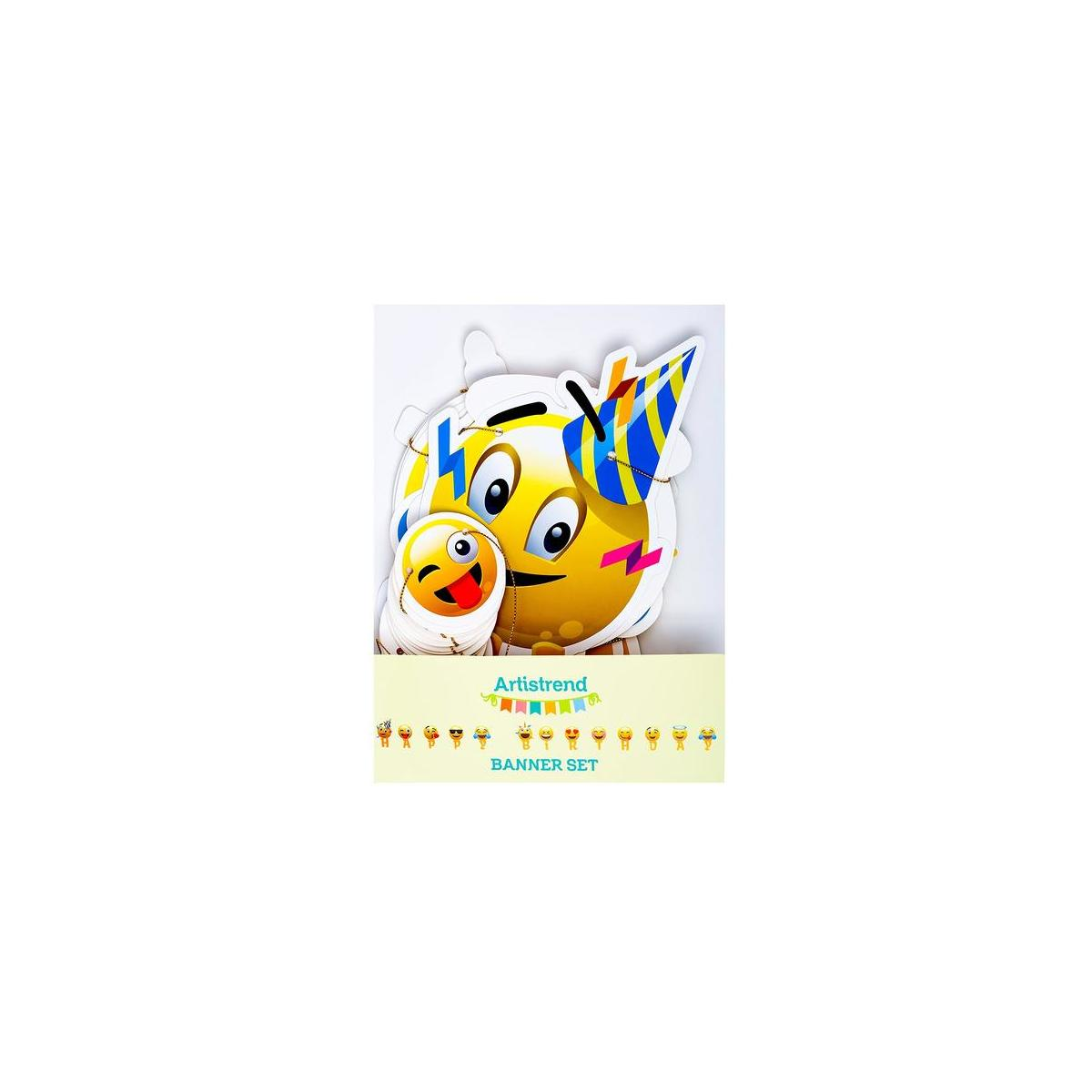 Artistrend Happy Birthday Banner Emoji with Garland Strip