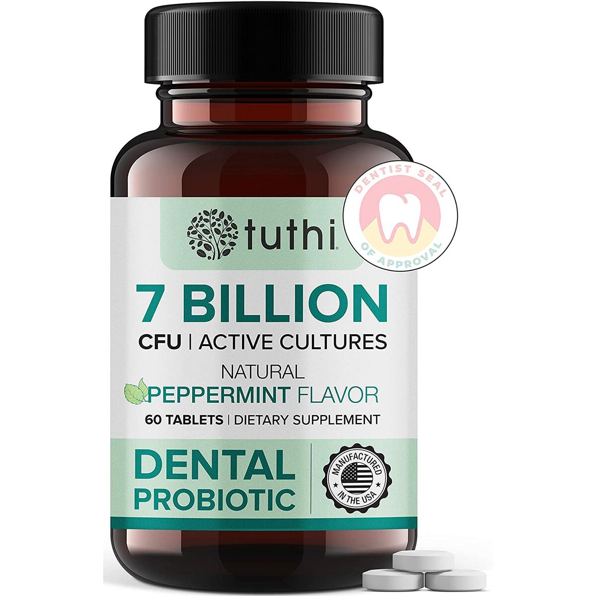 Dental Probiotics - Probiotic for Mouth Teeth & Gum Care - Oral Health - Fresh Breath - 60 Lozenges