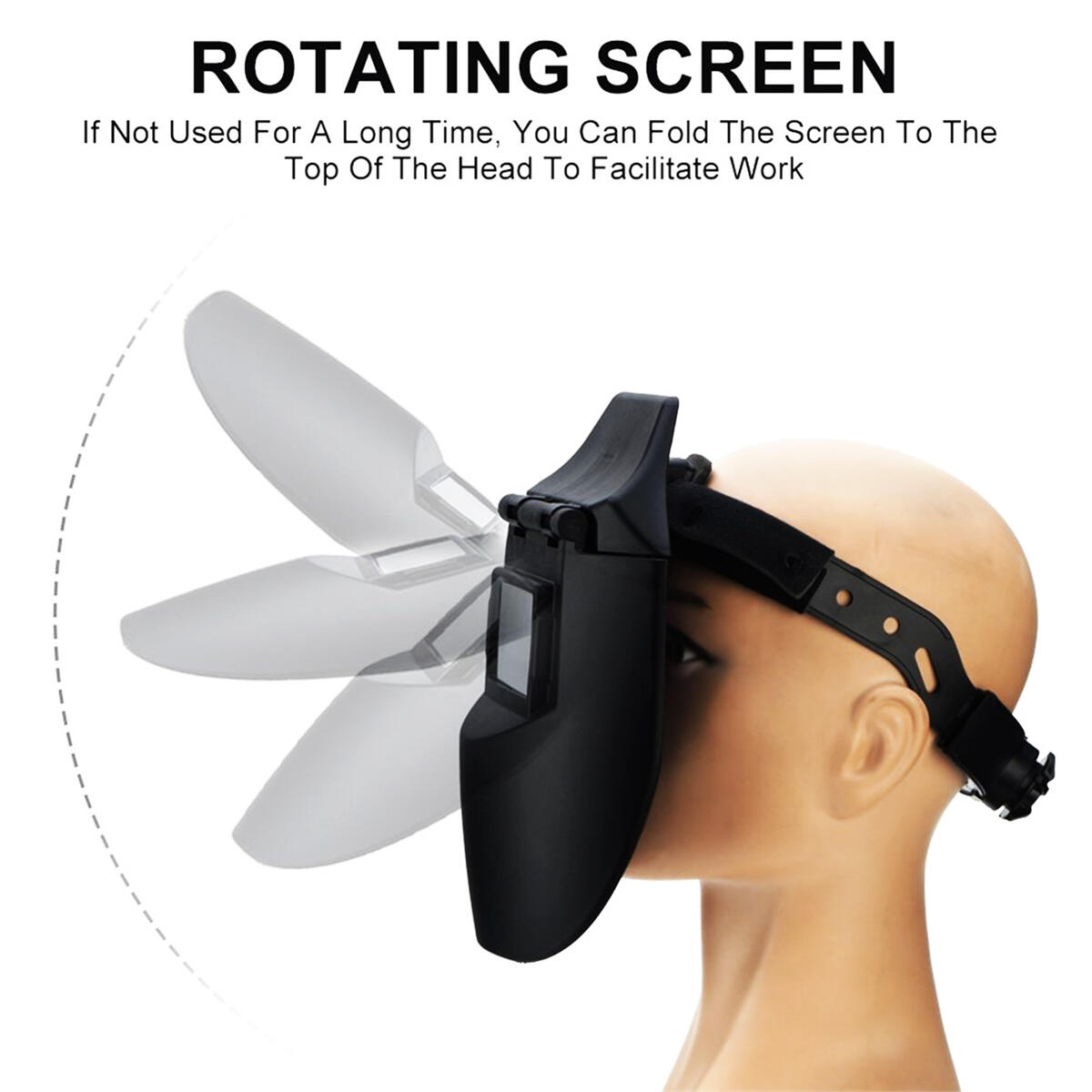 True Color Solar Powered Auto Darkening Welding Helmet with Adjustable Shade Range, Tig Arc Welder Mask