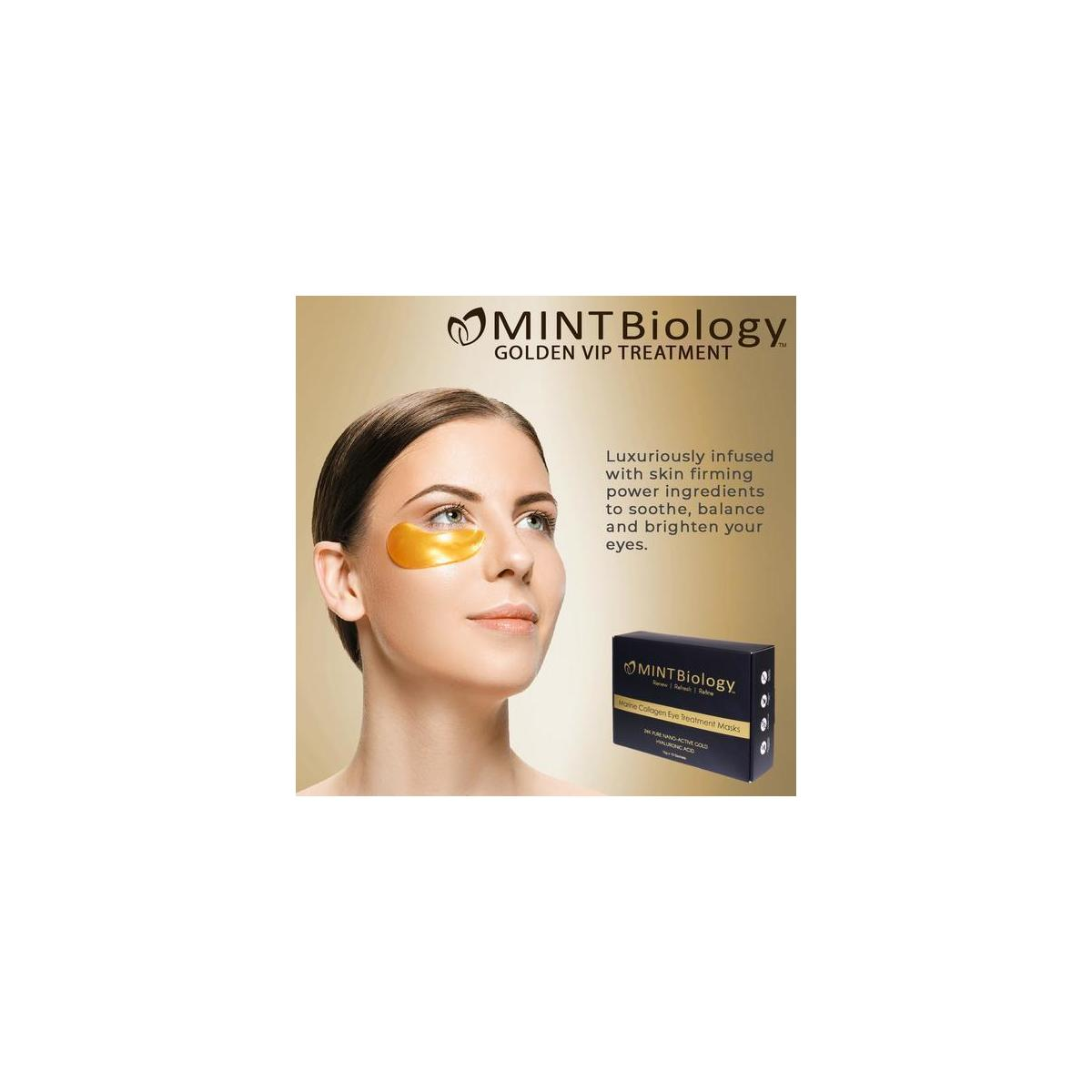 MINTBiology Gold Under Eye Patches -  Perfect GIFT & Get yourself Holiday Ready!
