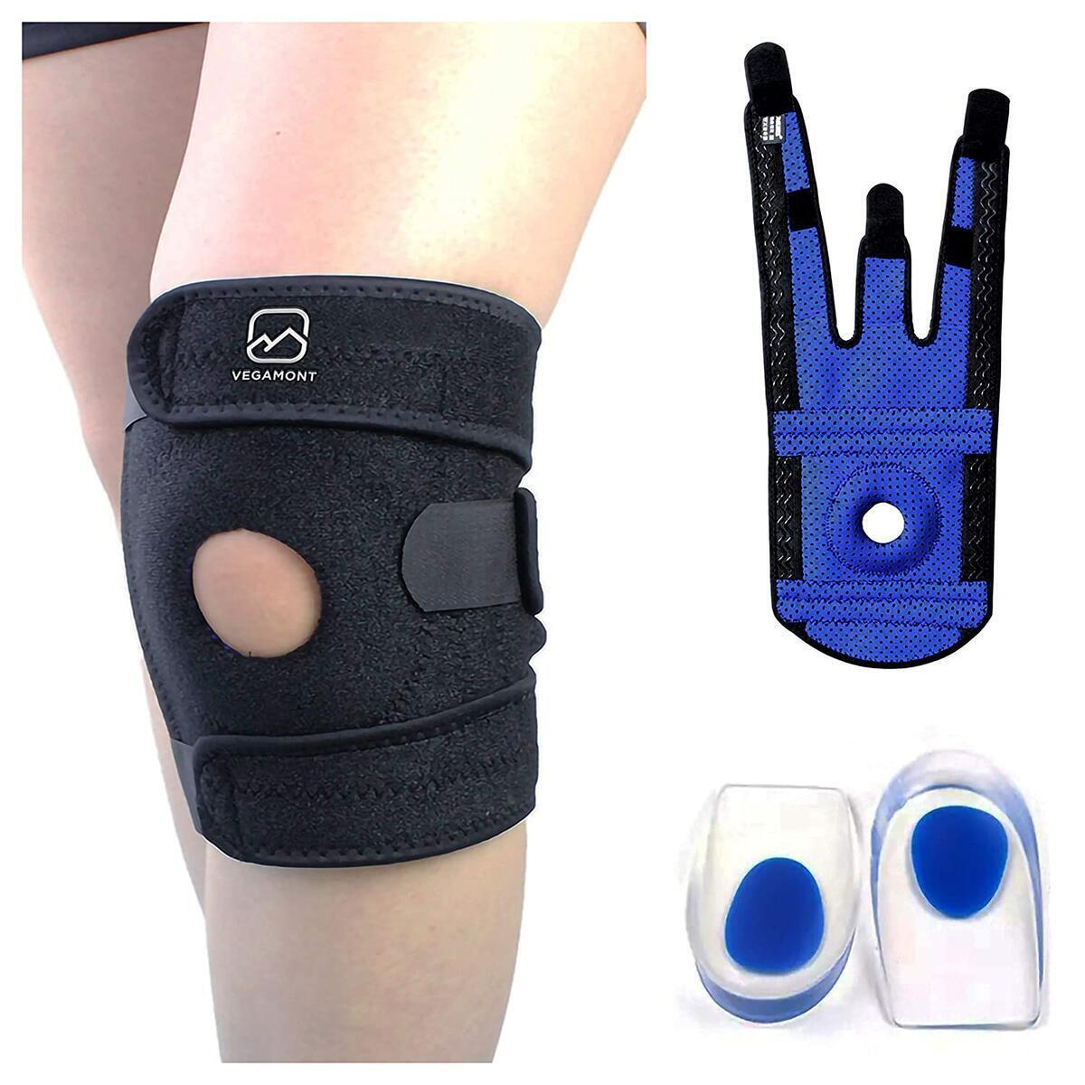 VEGAMONT Knee Brace Support for Women and Men - Adjustable Open Patella Neoprene Strap- Reduce pain & Protect from Injury - Non Sl