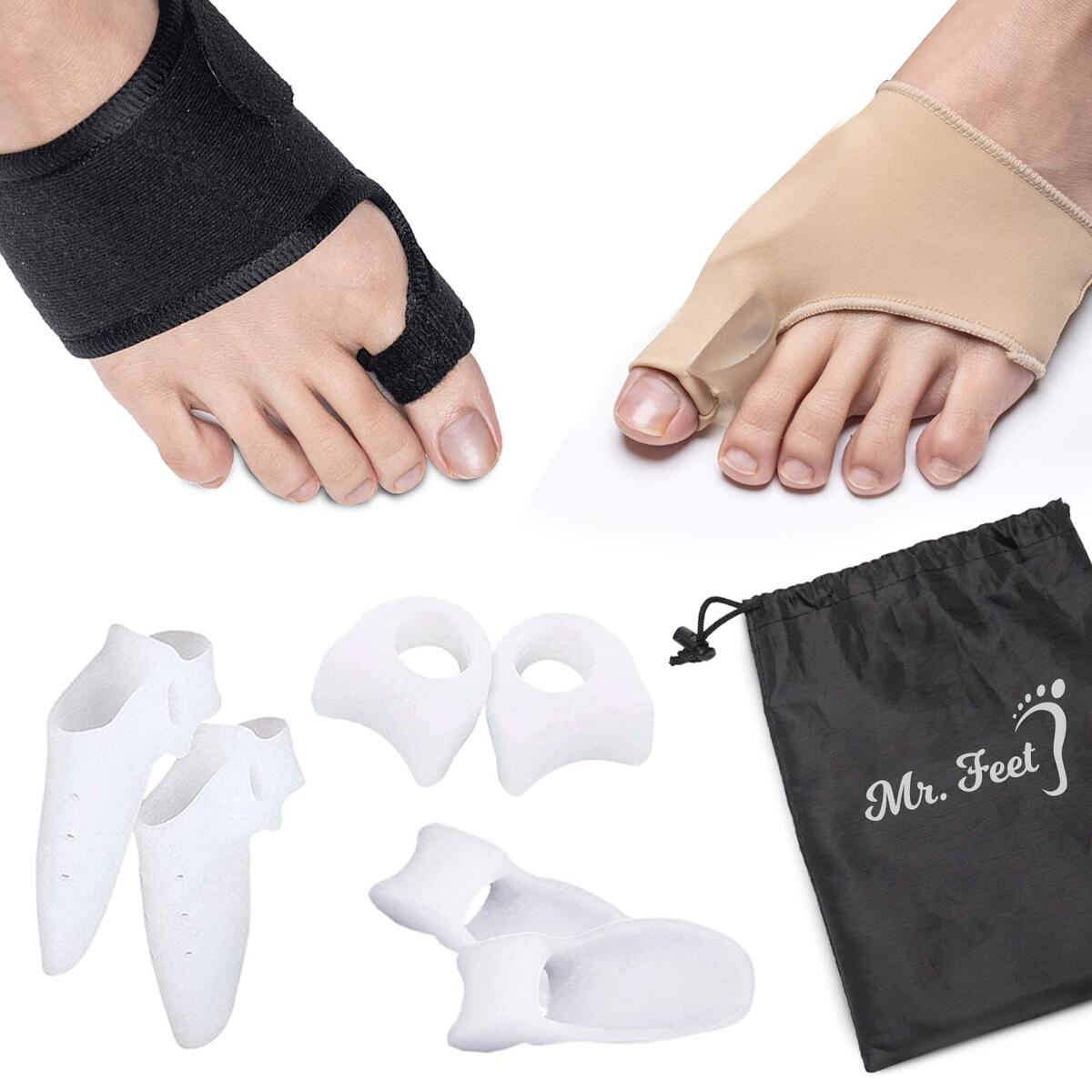 Bunion Corrector and Bunion Pain Relief kit-, 10pcs Orthopedic set - Hallux Valgus Splint, Bunion Protector Sleeves or Socks, Toe Separators –Big Toe, Hammer Toe Straightener (for Men & Women)