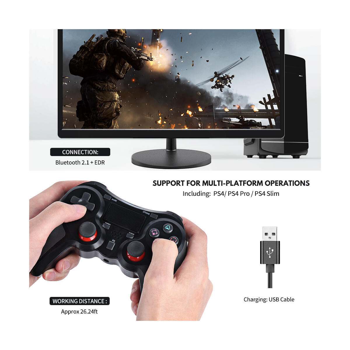PS4 controllers Black