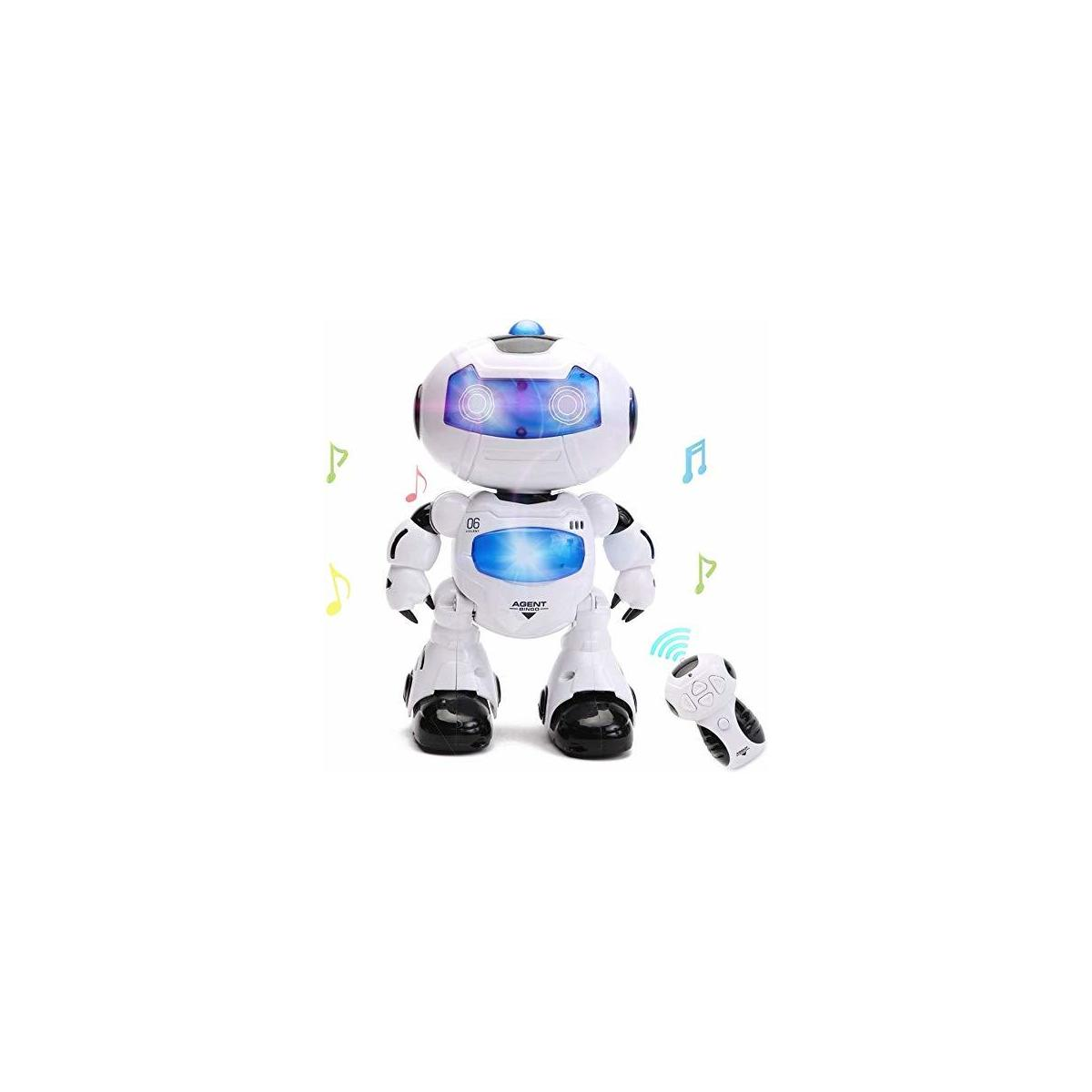 HANMUN Electronic RC Robot Learning Toys Xq16006 Toddler Dancing Remote Control Robot Toys with Music Lights