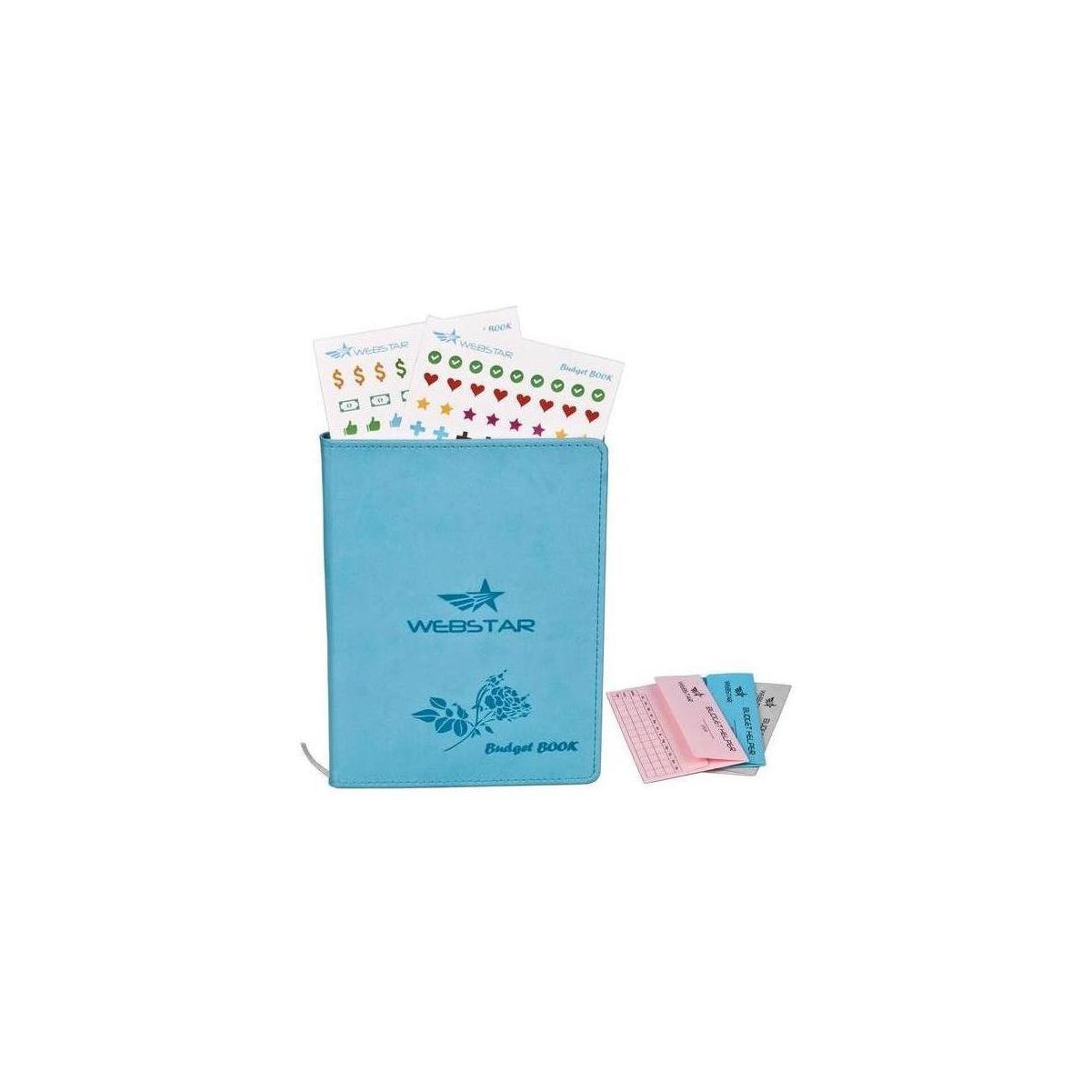 3 Budget Envelopes /& 160 Stickers Bonus Turquoise Undated Hardcover Monthly Tracker 8.2 x 5.9 Notebook Webstar Budget Book Planner Organizer Journal