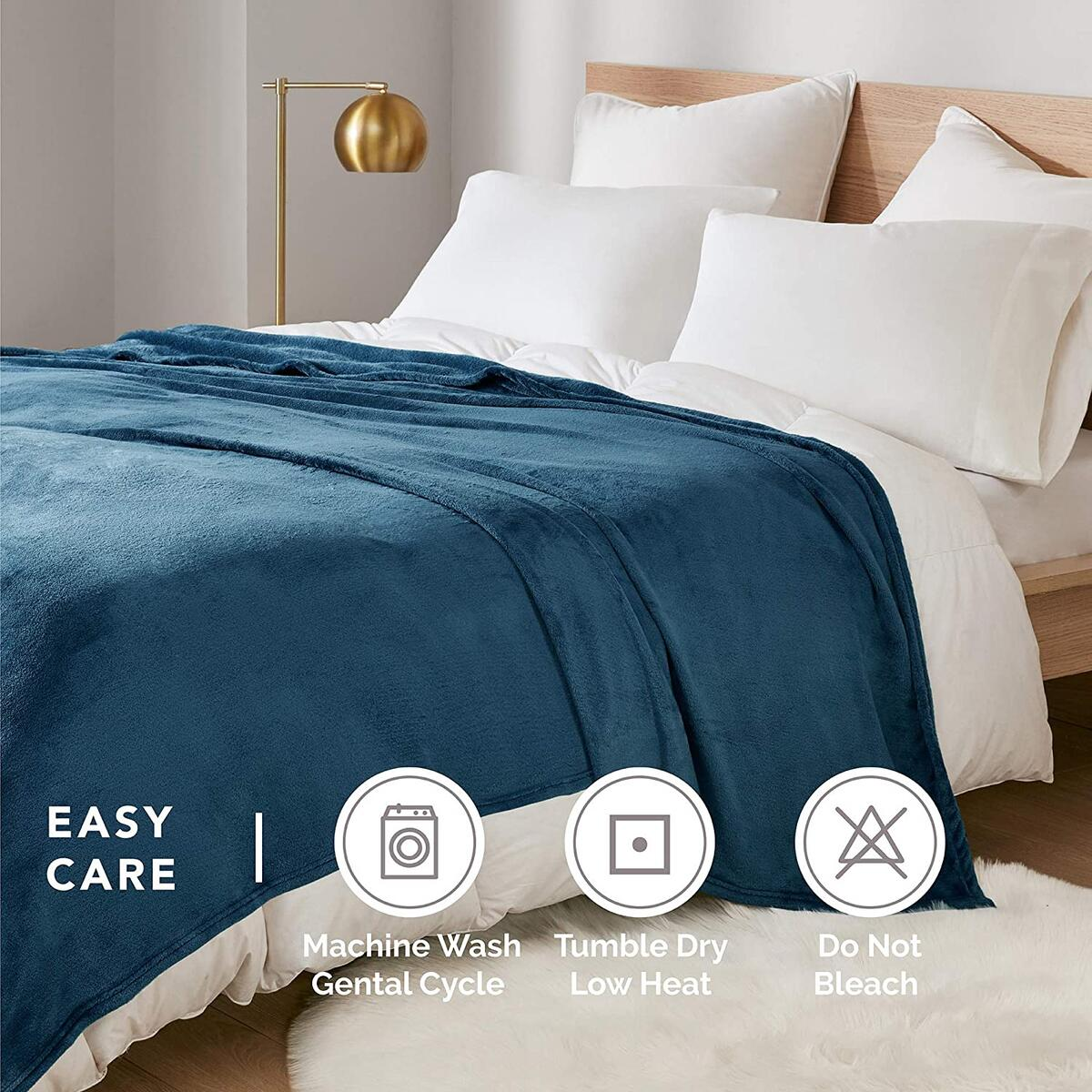 90x90 QUEEN Size Any Color DEGREES OF COMFORT Fleece Queen Blanket for Bed - MicroVelour Velvet Plush | Silky Soft & Lightweight | Use on Couch, Bed or Camping | 4 Sizes, 10 Colors Available Throw Blanket, 90x90 QUEEN Size Any Color