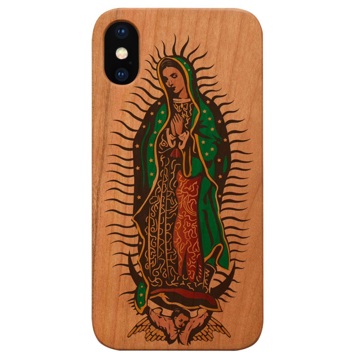 GUADALUPE - UV COLOR PRINTED, Limited Edition Wooden Smartphone Case (All Iphones & Samsung) - High quality, Beautifully designed.
