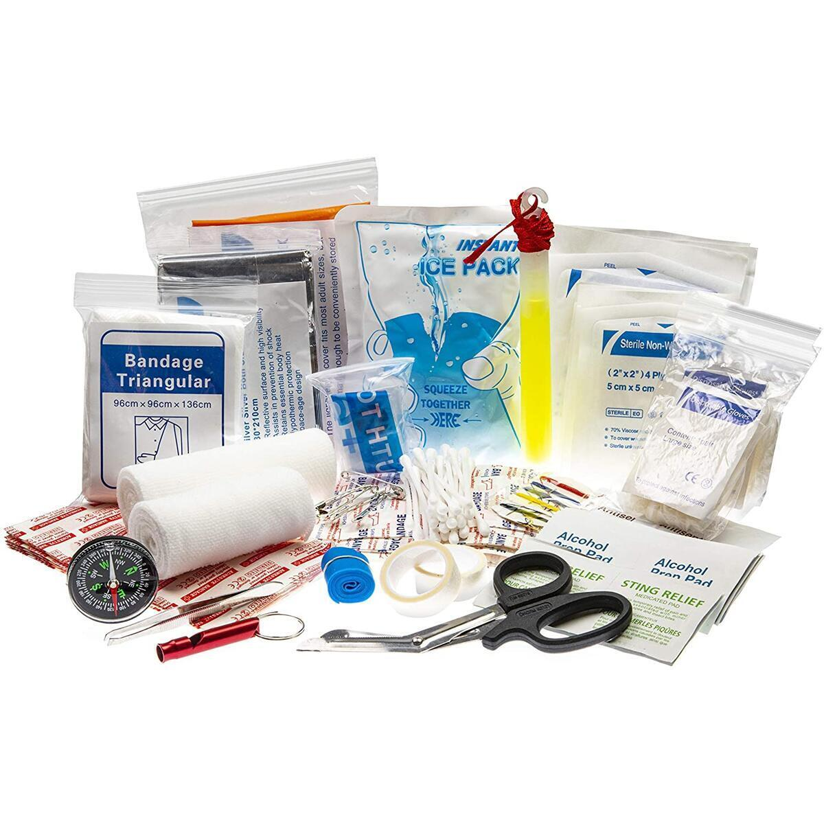 Dexmed All-Purpose Waterproof First Aid Medical Kit - 148 Pieces- Portable and Compact for Travel, Ideal for Home, Car, Workplace and Outdoor Emergencies