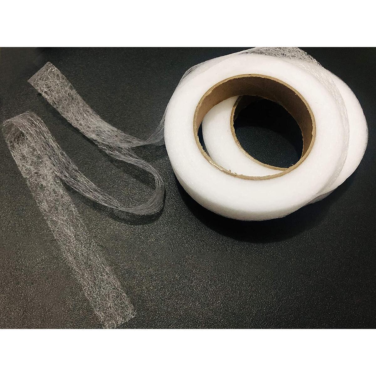 2pcs Hem Iron-On Adhesive Tape Fabric Fusing Tape Each 27 Yards Length, 0.59inch/1.5cm Width
