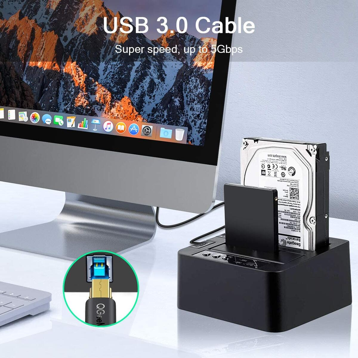 USB 3.0 Cable 3FT,  Superspeed USB 3.0 Cable A Male to B Male Compatible with Docking Station, Monitor, External Hard Drivers, Scanner and More, USB 3.0 Upstream Cable