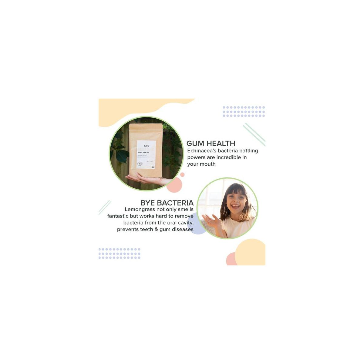 Organic Oral Care Tea - Natural Treatment for Receding Gums, Fresh Breath, Healthy Mouth - Dentist Formulated for Teeth