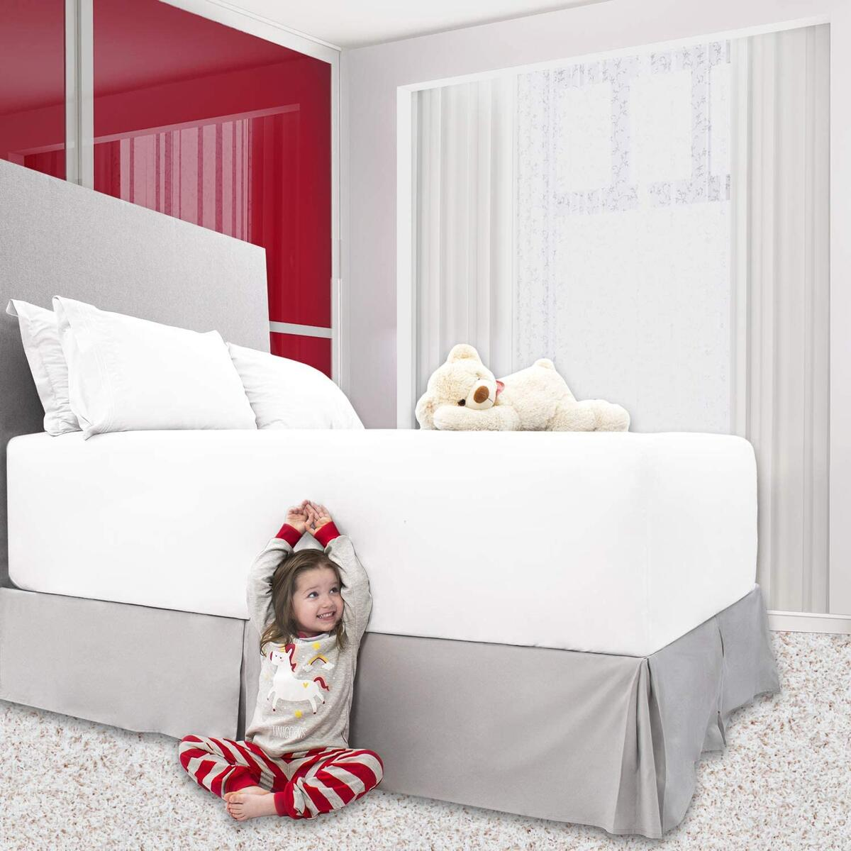 Mellanni Pleated Bed Skirt with 15