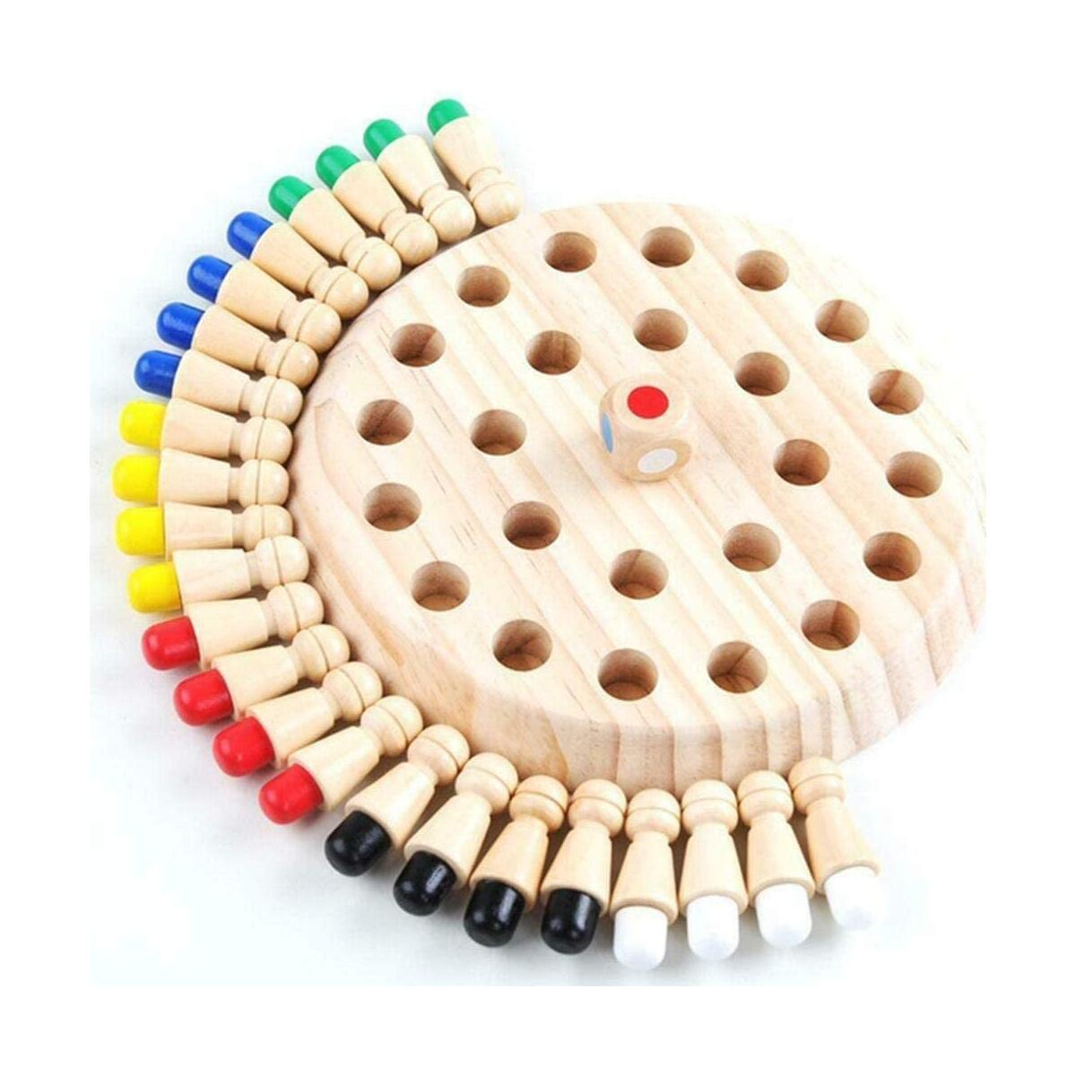 ROHSCE Memory Match - Kid Wooden Stick Chess Game.A good color wooden Memory Matchstick Chess Game, Educational Intelligent Logic Game ,Cognitive Ability Toy for 3-7 Years Old Children.