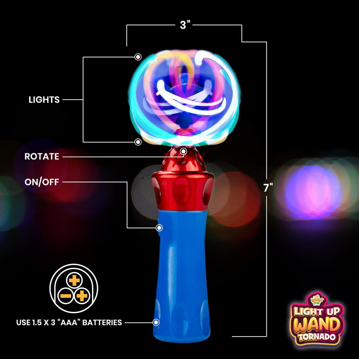 Spinning Light-Up Wand