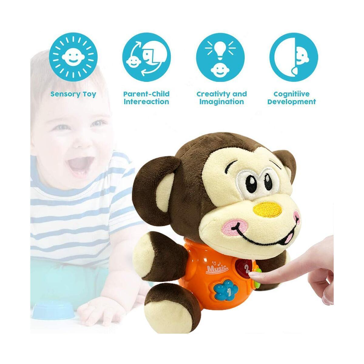 Baby Musical Toys Baby Doll - Newborn Soothers Infant Toys 0-6 Months Baby Gifts Soothing Dolls Plush Soother Musical Dolls Pacifiers Soothing Partners Plush Appease Monkey