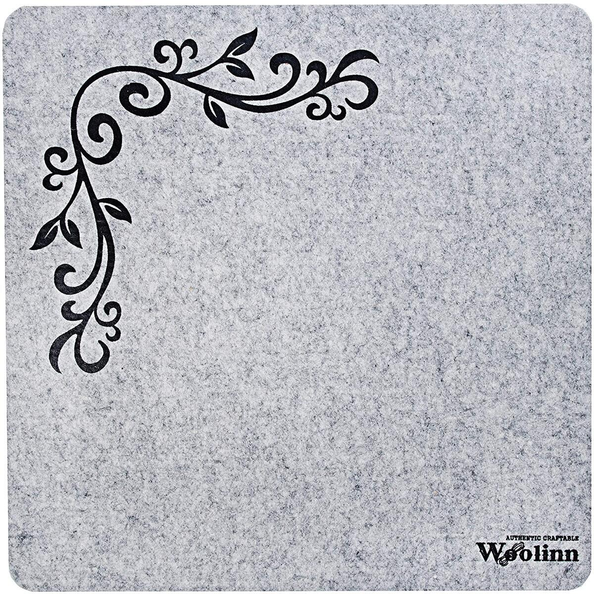 "Wool Pressing Mat for Quilting, 17"" x 17"", Felt Ironing Pad 1/2"