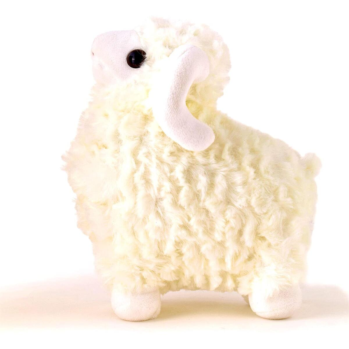 TorrisToys 10 Inches White Lamb Stuffed Animal - Perfect Cute Large Stuffed Sheep Plush - Great Plush Toy Sheep Gift