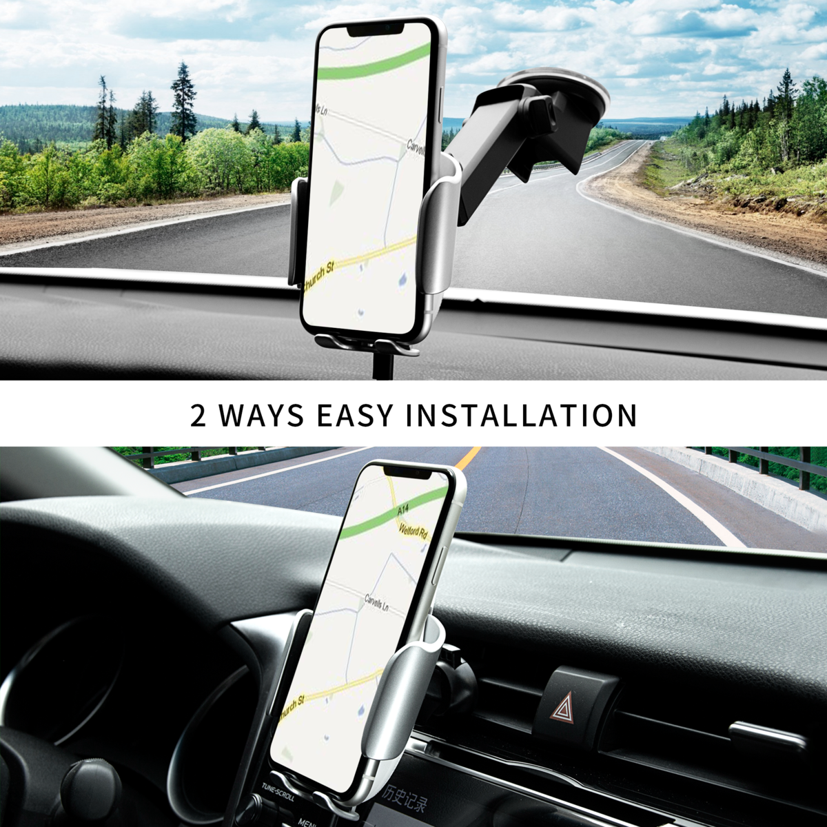 8M Wireless Car Charger Mount Auto Clamping – Cute Bear Design All in One Car Mount Wireless Charger I QI Wireless Charger Car Mount I 15W Fast Charge Wireless Phone Charger for Car I a Friend in the Car