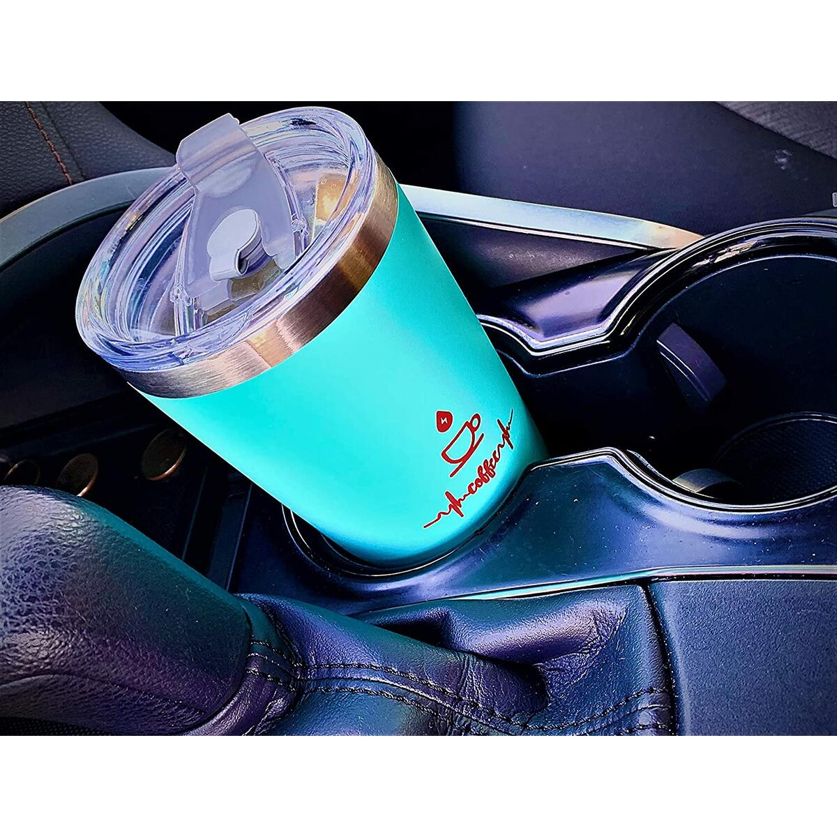 Maribus-FL 20oz Tumbler Stainless Steel Vacuum Insulated Mug with Lid, Double Wall Travel Mug, Durable Powder Coated Coffee Cup, Suitable for Ice Drinks and Hot Beverage (Light blue 1pack)