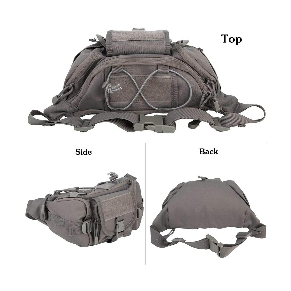 OLEADER Tactical Waist Pack Military Fanny Packs Hip Belt Bag Pouch Tool Organizer for Outdoor Hiking Climbing Fishing Hunting Bum Bag