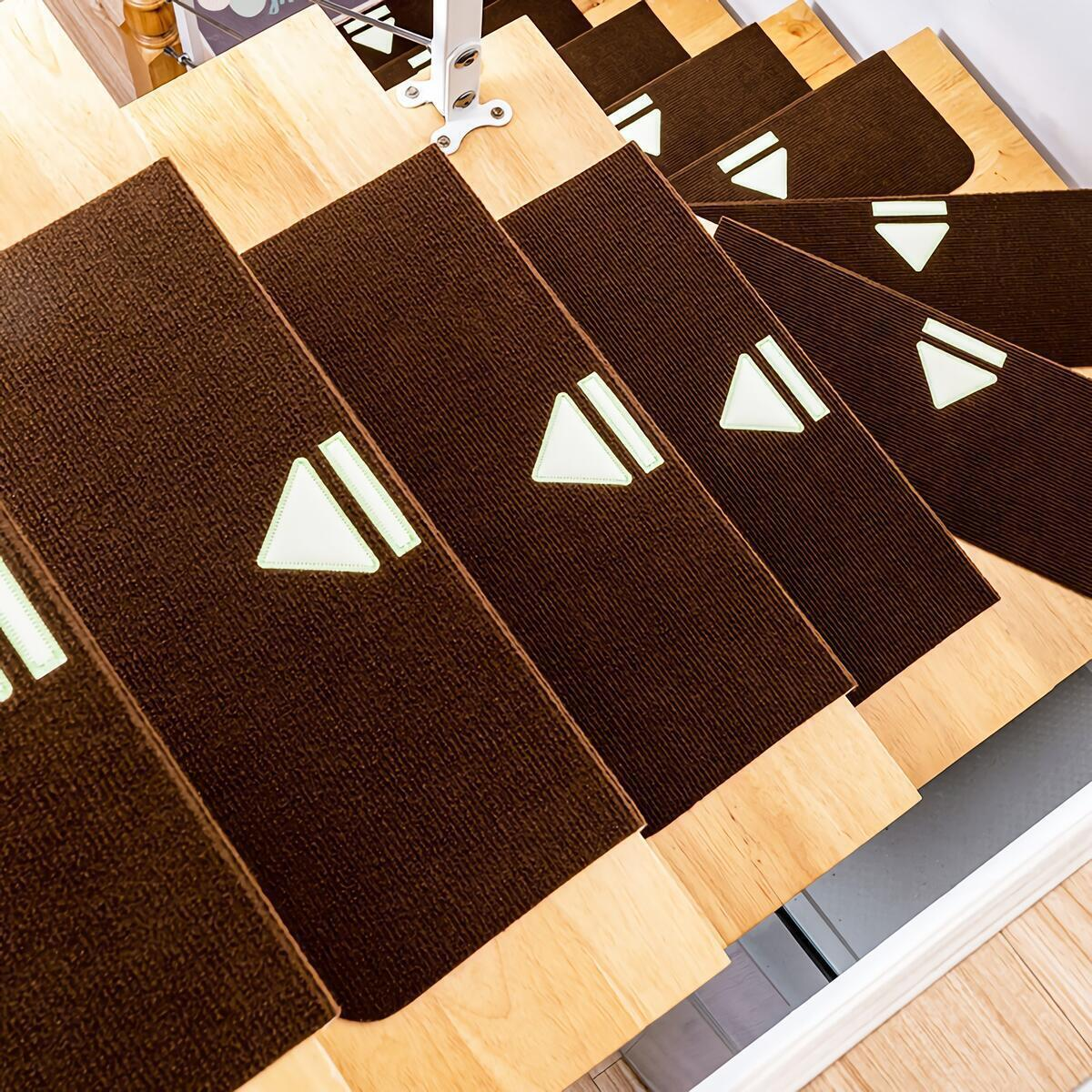 Stair Treads Carpet Mat Set of 5|Non-Slip Luminous Soft Self-Adhesive Soundproof Waterproof|ALL THE VARIATION ARE APPLIED TO REBATE.