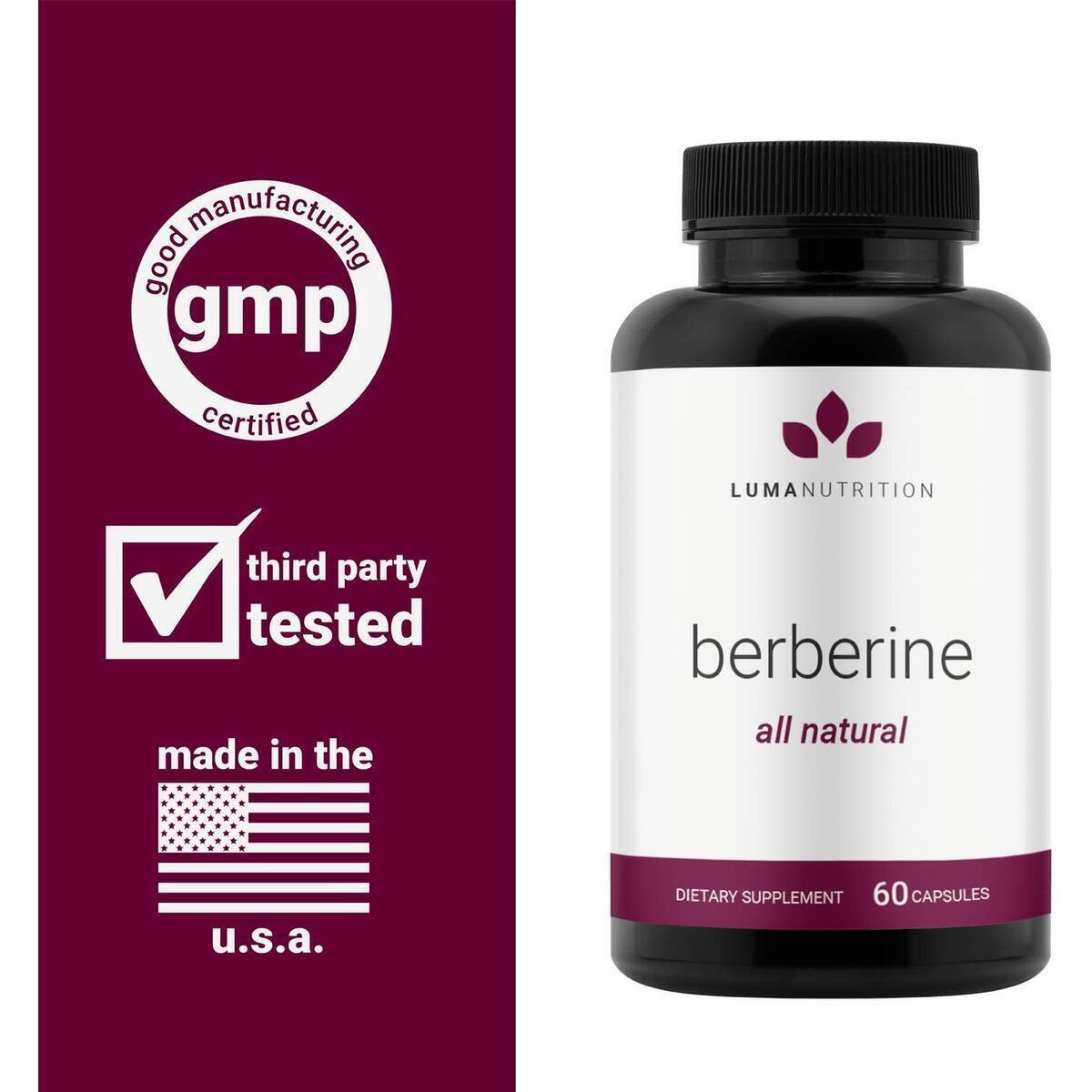 Berberine Supplement - Berberine 1200mg Per Serving - Berberine HCI