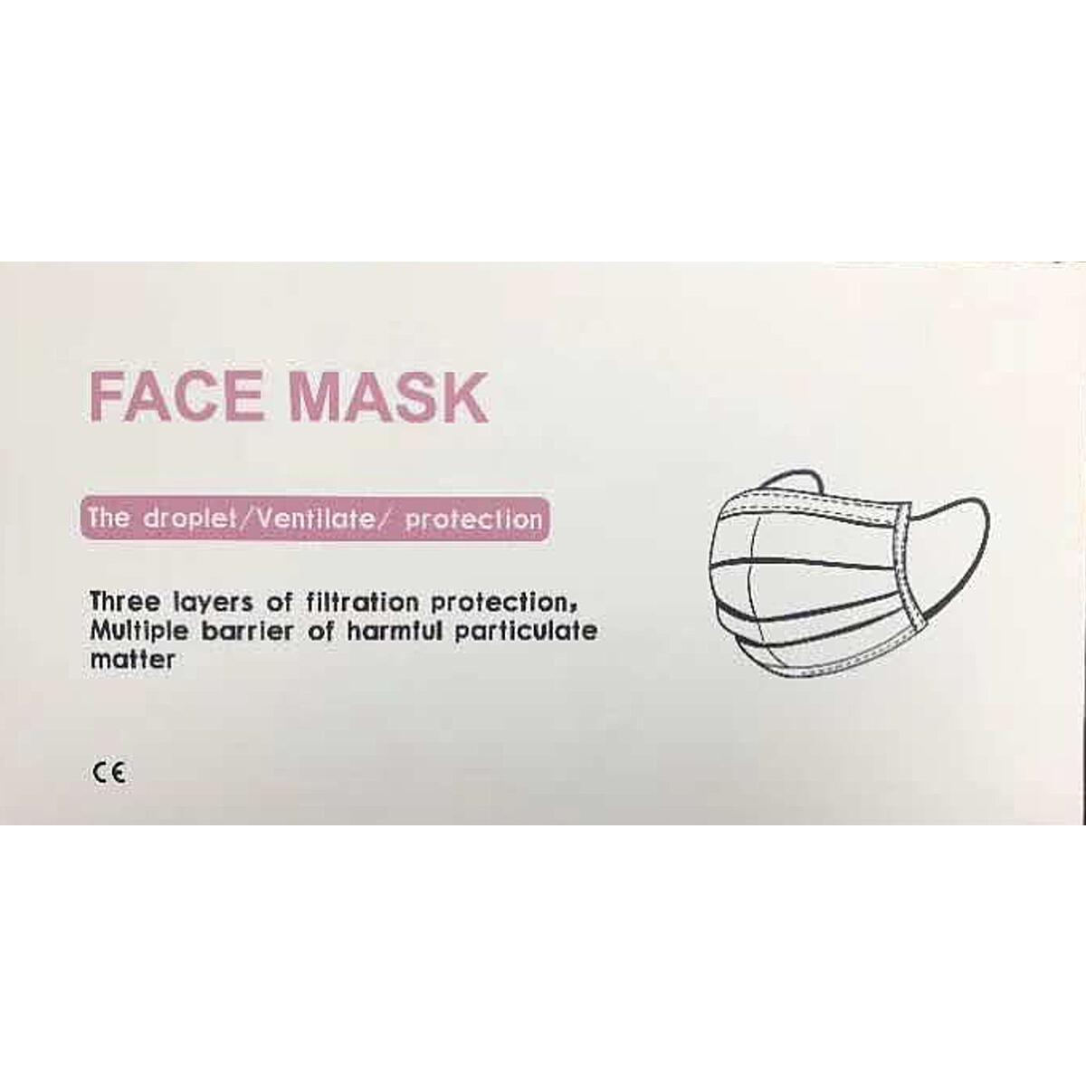 50pcs Disposable 3 Layer Respiratory Face Masks