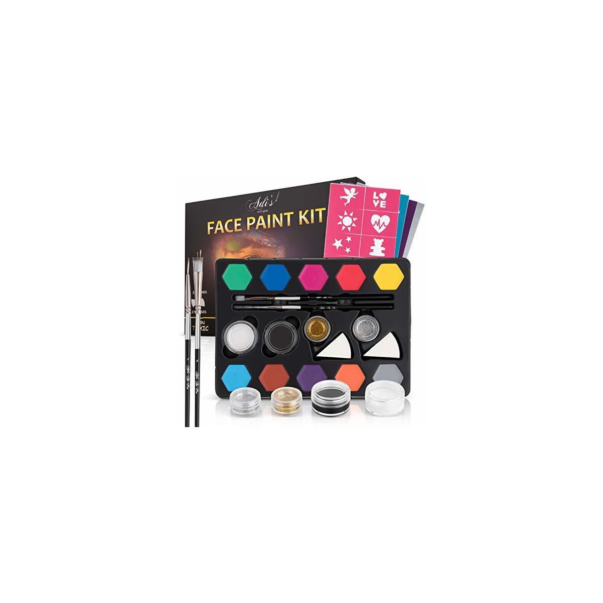 Face Paint Kit for Kids - 58 pcs.