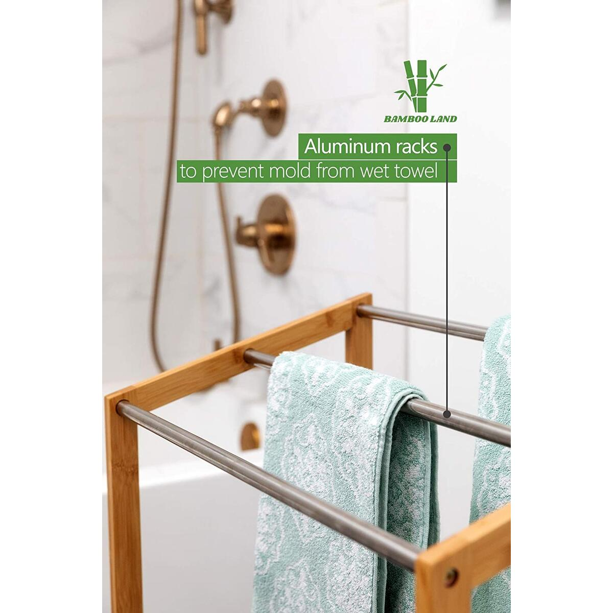 Bamboo Towel Racks for Bathroom, Free Standing Towel Racks for Bathroom, Pool Standing Towel Rack, Outdoor Towel Rack Wood, Pool Accessories Towel Holder, Gym Towel Stand, Kitchen Hand Towel Rack
