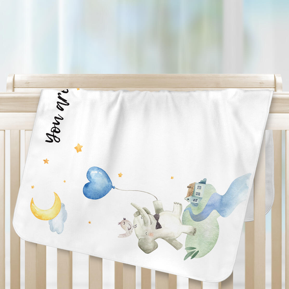 Monthly Baby Milestone Blanket Boy and Girl Luka&Lily, Personalized Blanket Newborn Baby Shower, Plush Elephant Month Blanket for Nursery, Bandana Bib +3 Frames 60