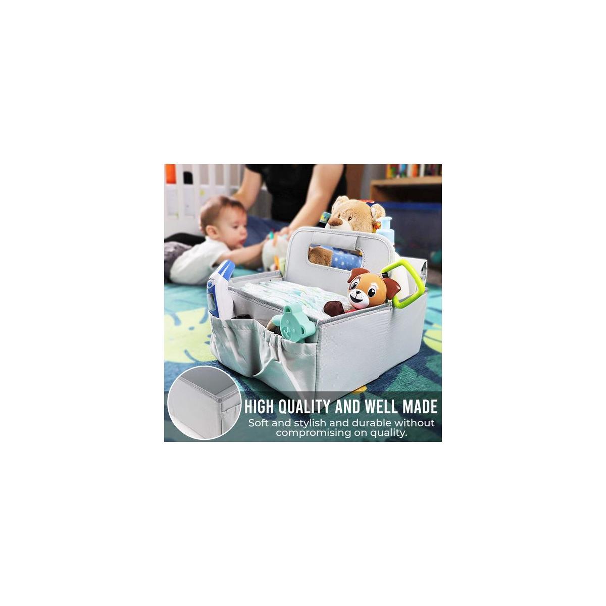 Baby Diaper Caddy Organizer Bag, Portable Essentials Storage Basket