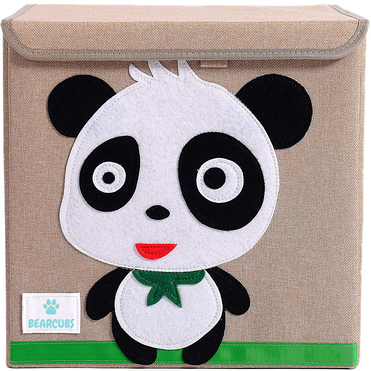 Bearcubs Small Toy Chest with Flip Top Lid - Panda