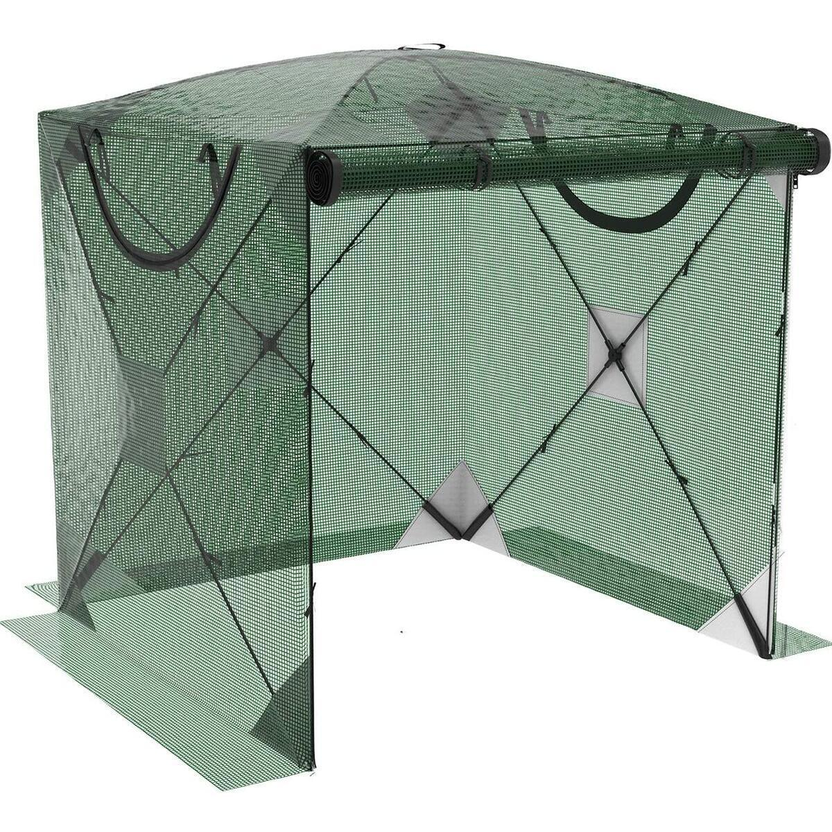 Kradl Portable Greenhouse Kit   Outdoor, Instant Pop Up Canopy for Plants   Waterproof Plant Cover   Garden Shed Plastic Grow Tent 69 x 69 x 81 Inches