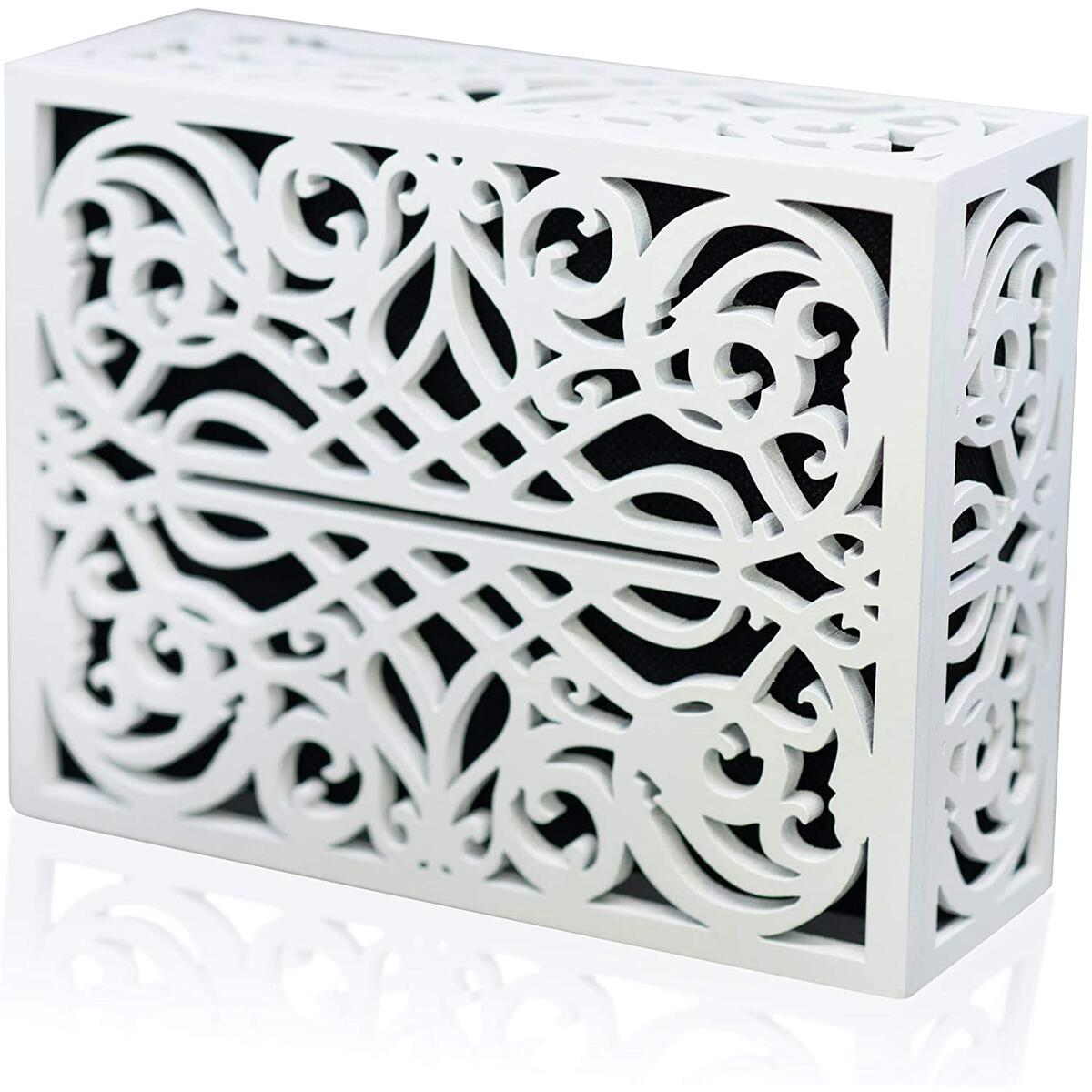 Doorbell Chime Cover Box Corinthian Style Inside Doorbell Chime Covering (White)