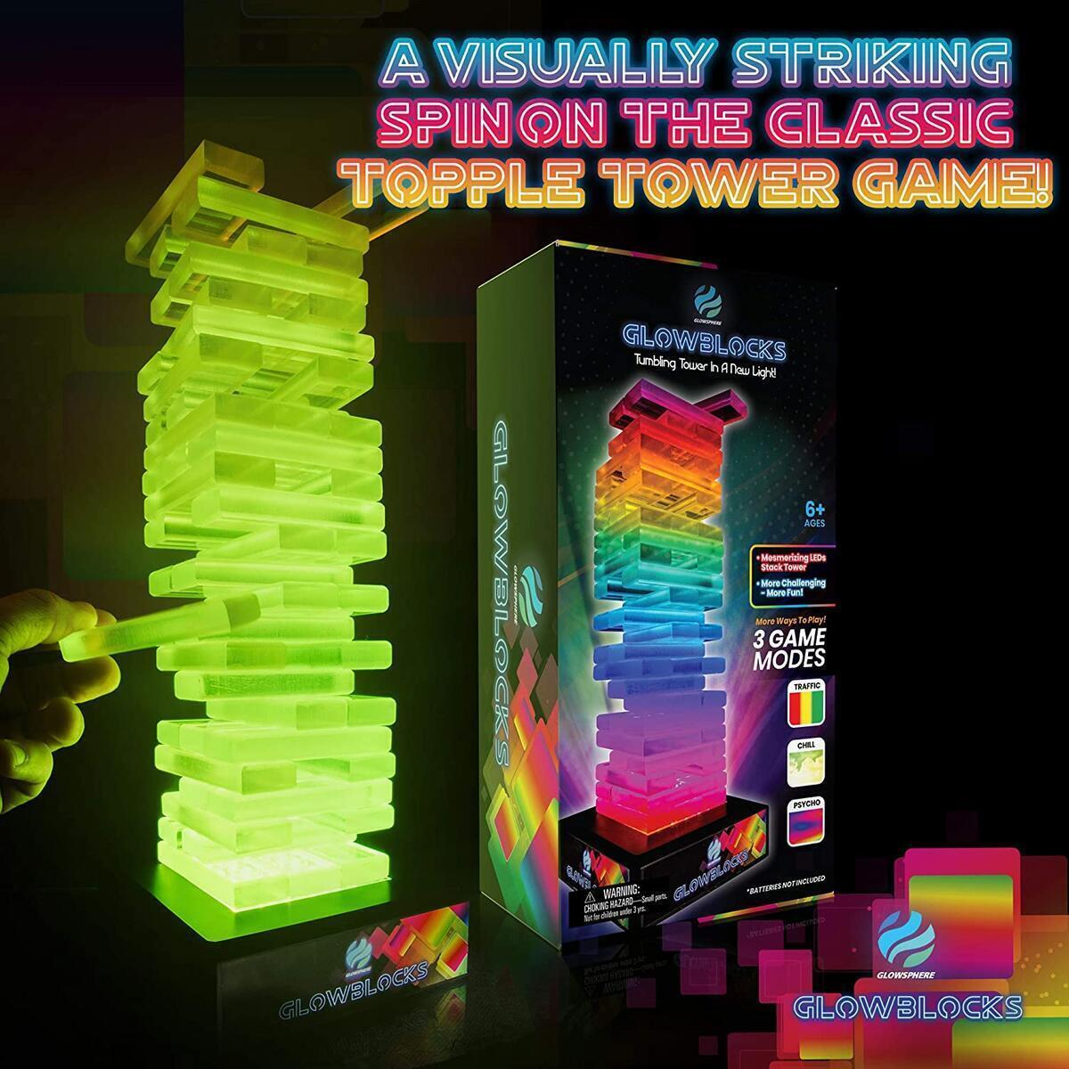 Glowblocks Light-Up Tumbling Tower Game