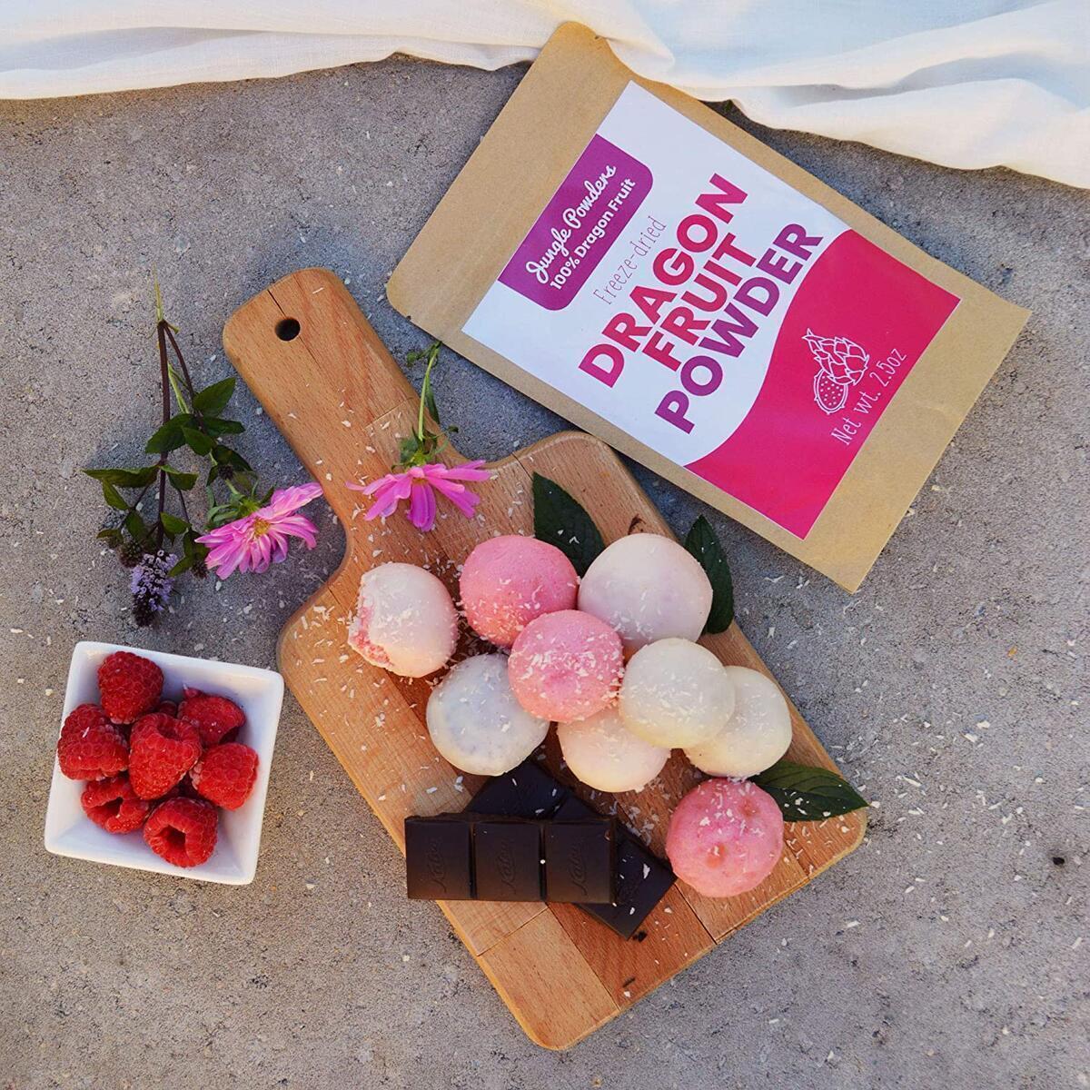 Jungle Powders Pink Pitaya Powder | 100% Natural Dragon Fruit Powder | Superfood Dragonfruit Powder Organic Freeze Dried Powdered Pitahaya Fruit 5oz