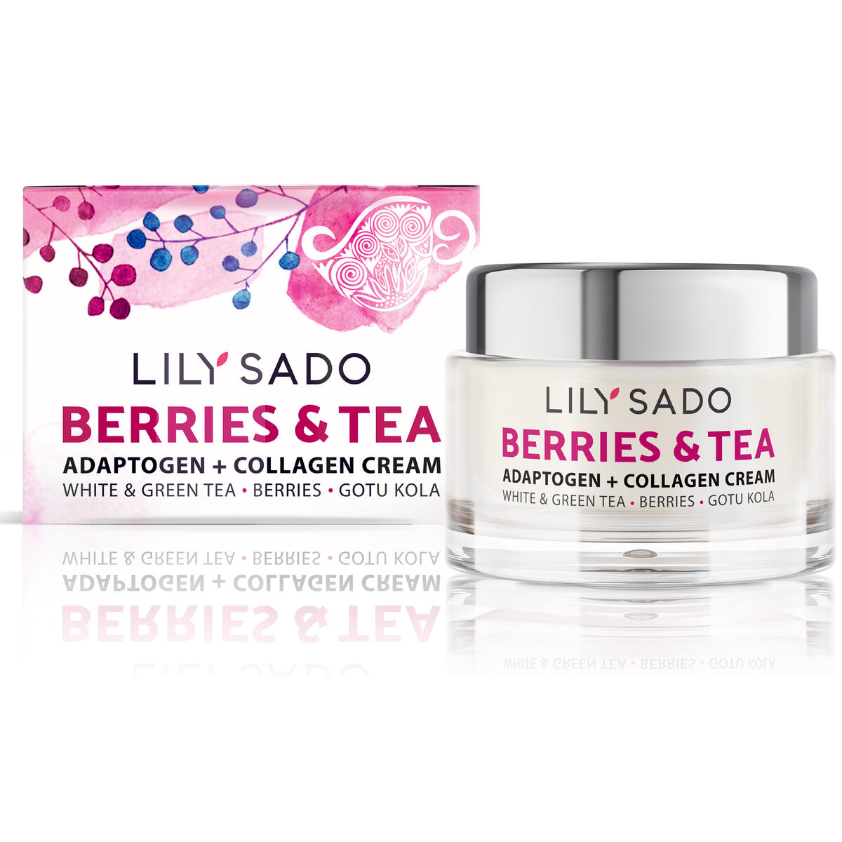 LILY SADO BERRIES & TEA Adaptogen and Collagen Moisturizer