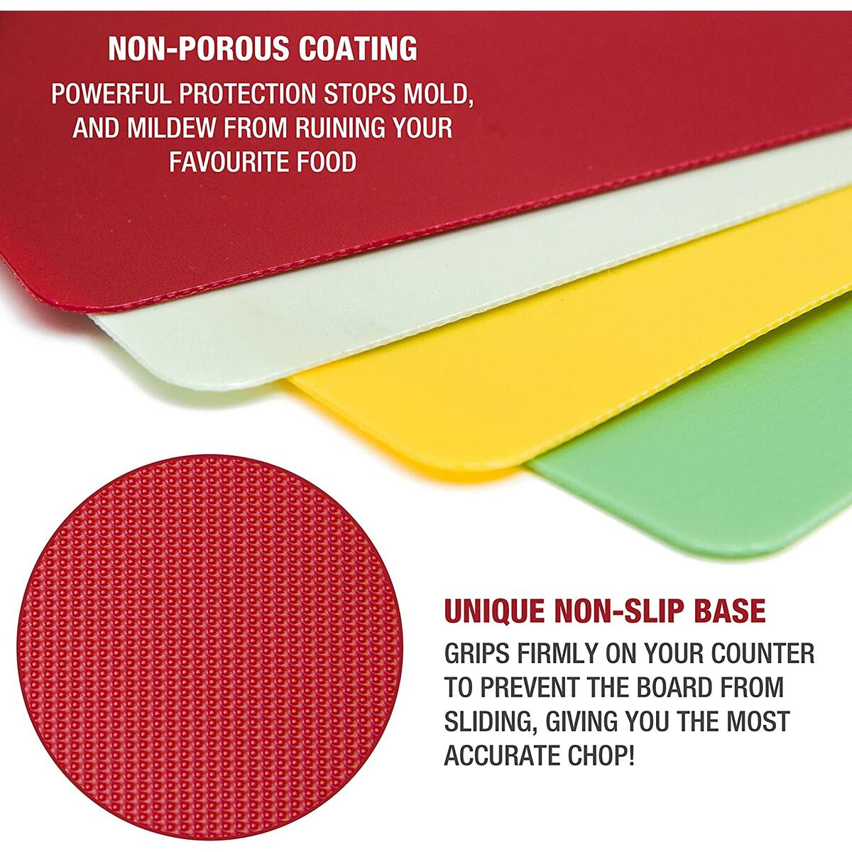 Plastic Cutting Board Mat Set – Large Flexible Chopping Boards – Non Slip Kitchen Mats, Dishwasher Safe, Foldable by Eparé